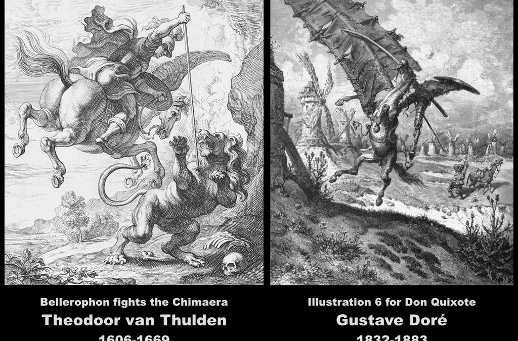 Bellerophon versus Don Quixote