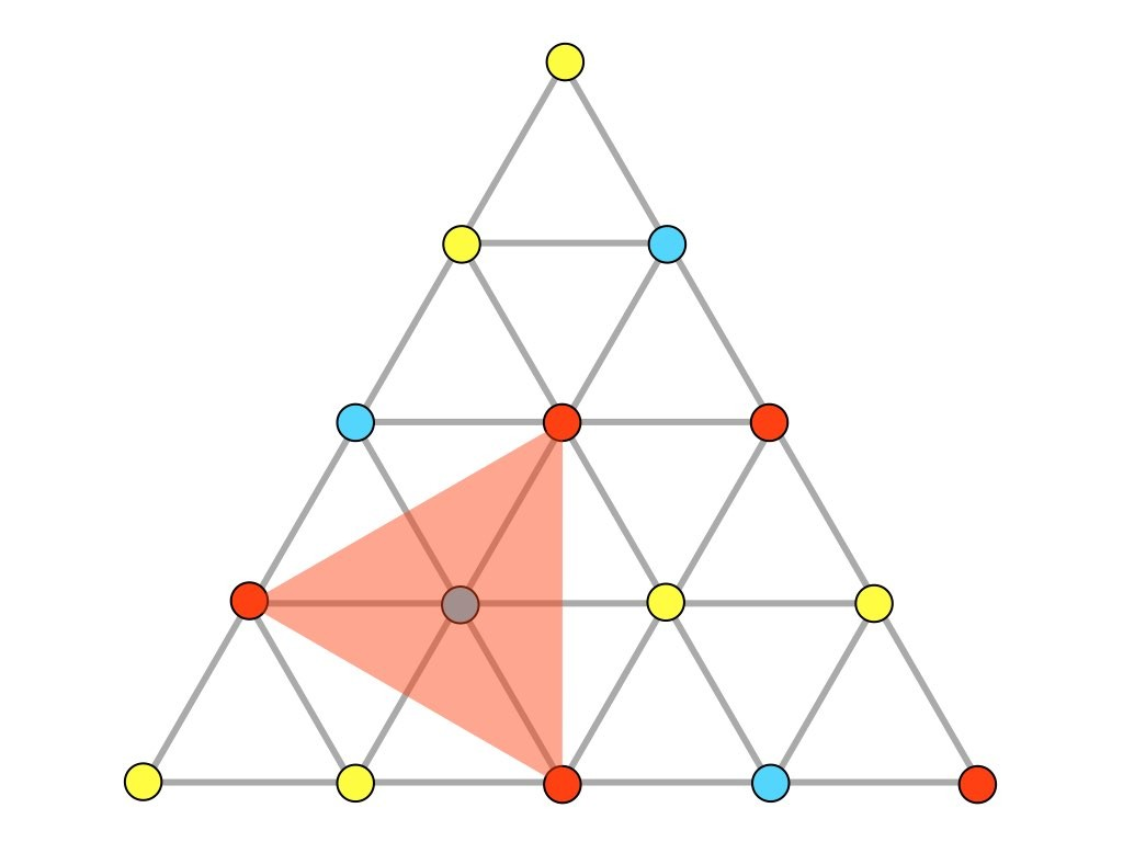 Puzzles games mathpickle three color equilateral triangle ccuart Images