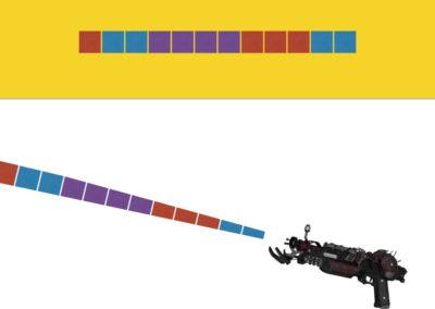 Spectral Blaster (symmetry, mini mathematical universe)