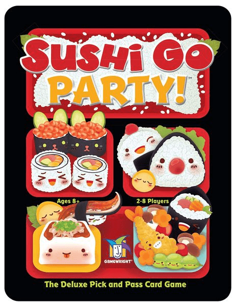 Sushi Go – Party! (2-8 Players; 20 minutes; Ages 8+)